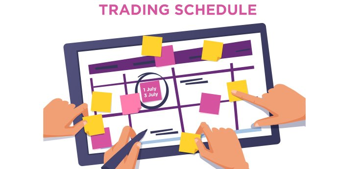 See How Trading Hours Change in July